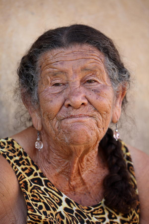 Old woman from Brazil. An Old woman from Brazil royalty free stock photo