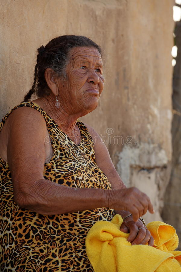 Old woman from Brazil. An Old woman from Brazil stock photos