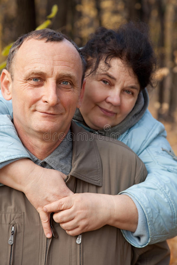 Download Old woman embrace  old man stock photo. Image of autumn - 12728512