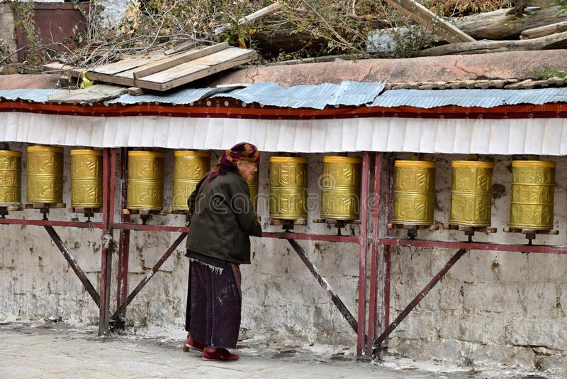 SERA MONASTERY, LHASA, TIBET - CIRCA OCTOBER 2019: One of the great three Gelug university monasteries of Tibet stock image