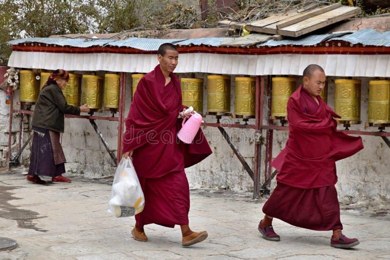 SERA MONASTERY, LHASA, TIBET - CIRCA OCTOBER 2019: One of the great three Gelug university monasteries of Tibet stock images