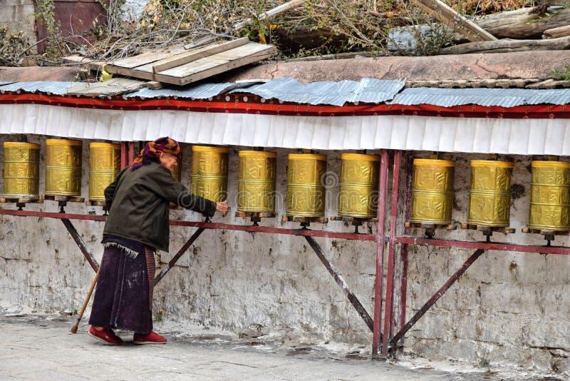 SERA MONASTERY, LHASA, TIBET - CIRCA OCTOBER 2019: One of the great three Gelug university monasteries of Tibet royalty free stock image