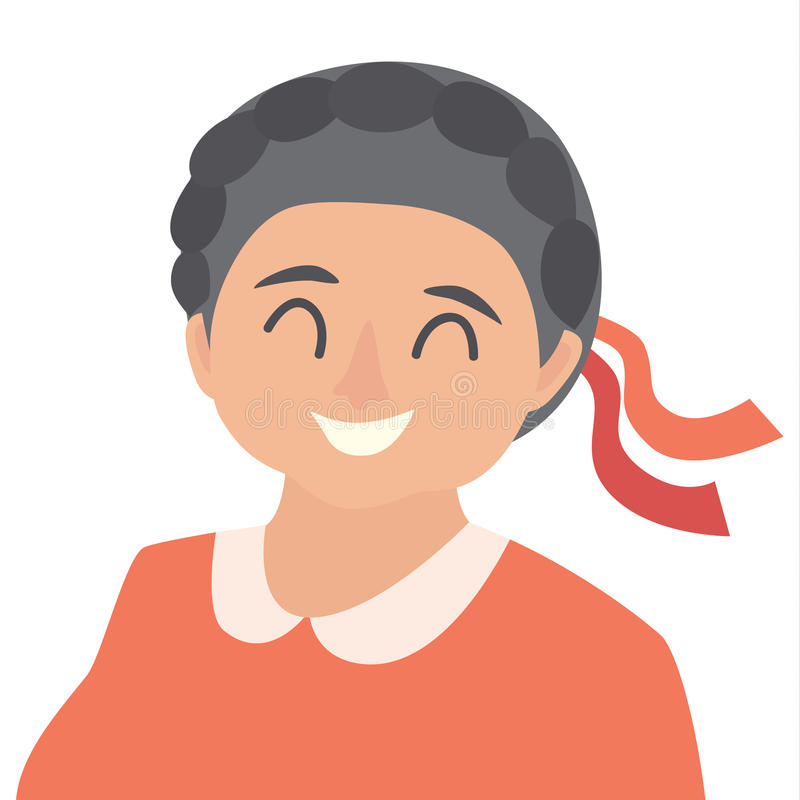 Old woman icon vector.Woman icon illustration.Face of old woman icon. royalty free illustration