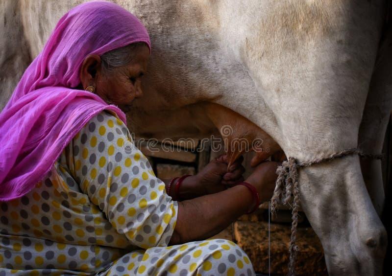 Woman Milking Herself