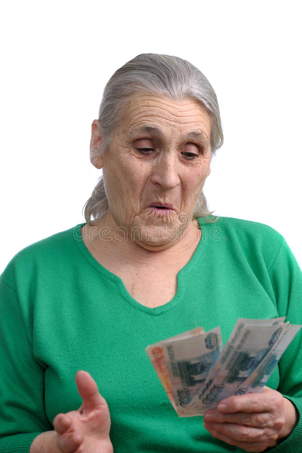 Download Old Woman With Money Stock Image - Image: 18431691