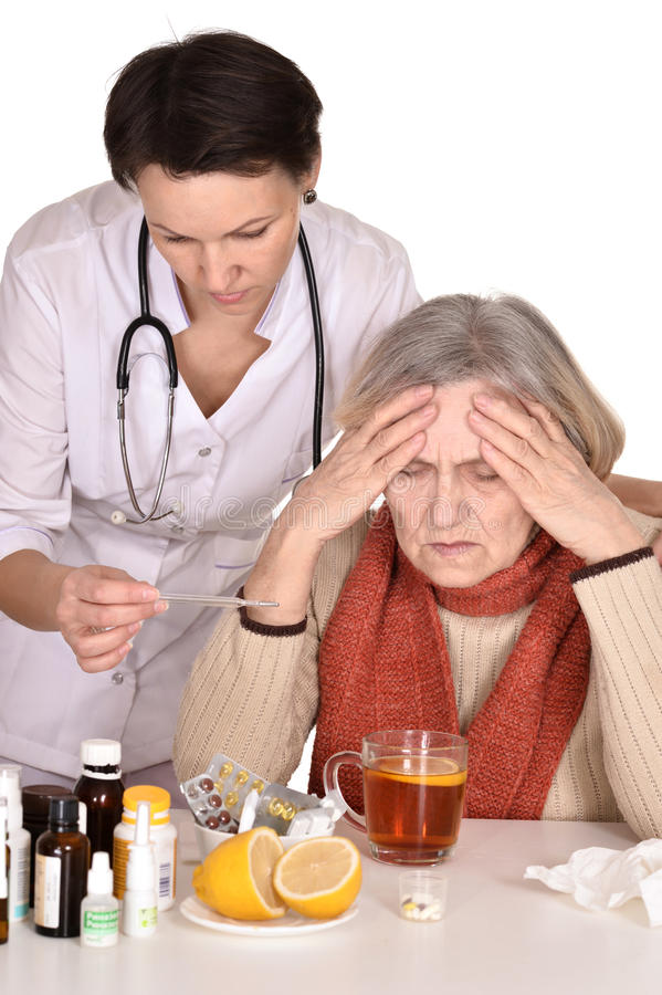 Download Old woman with physician stock photo. Image of doctor - 30815380