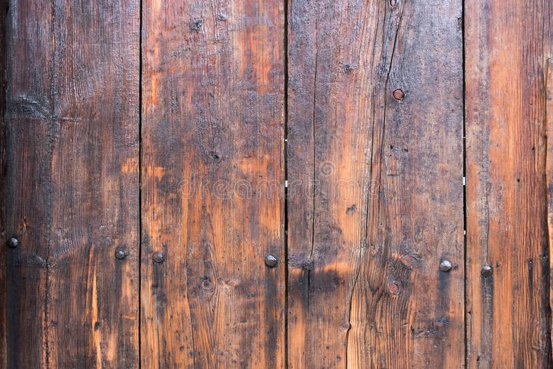 Old wood background. Old wood board texture background on a fence stock photo