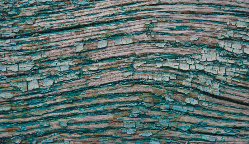 Old wood. Background of old board and cracked paint royalty free stock photography