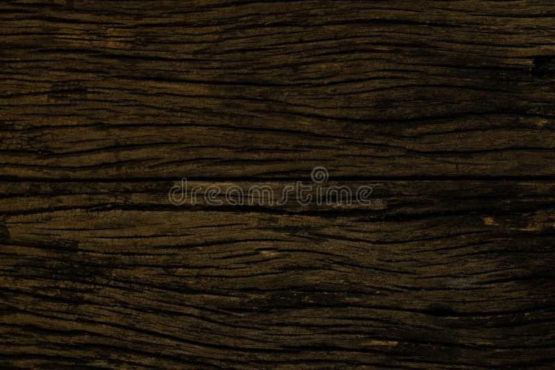 Old wood background. Grungy cracked wooden board by closeup textured background royalty free stock image