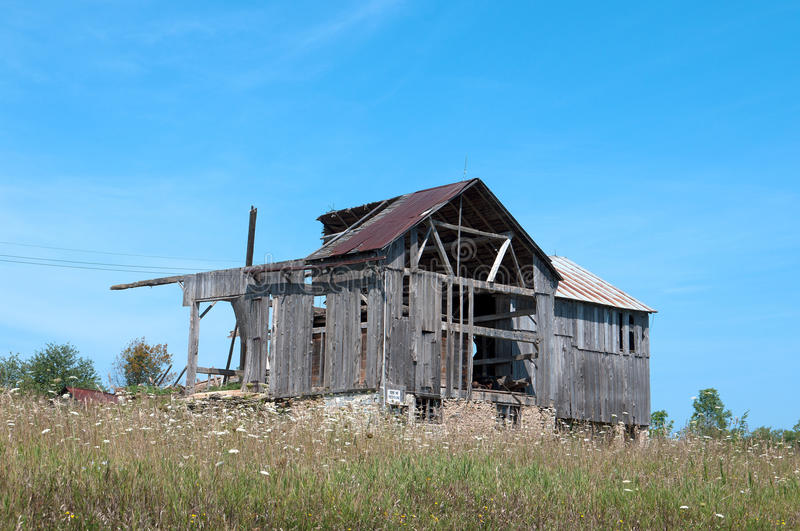 Old Wood Barn Falling Down royalty free stock images