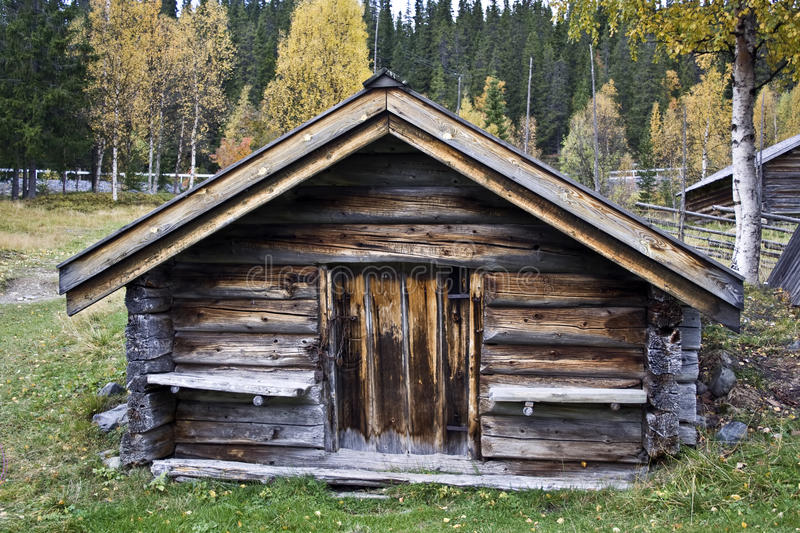 Old wood cabin royalty free stock images
