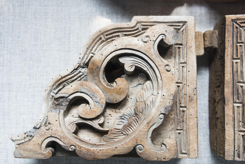 Old Wood carving royalty free stock image