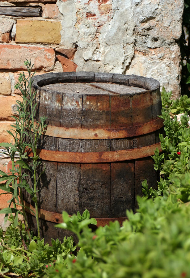 Download Old wood cask stock image. Image of rural, season, object - 25077379