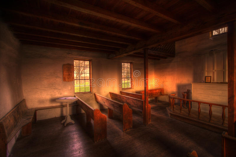 Download Old Wood Country Church Interior Stock Photo - Image: 13979962