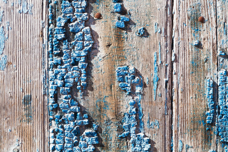 Old wood with cracked paint