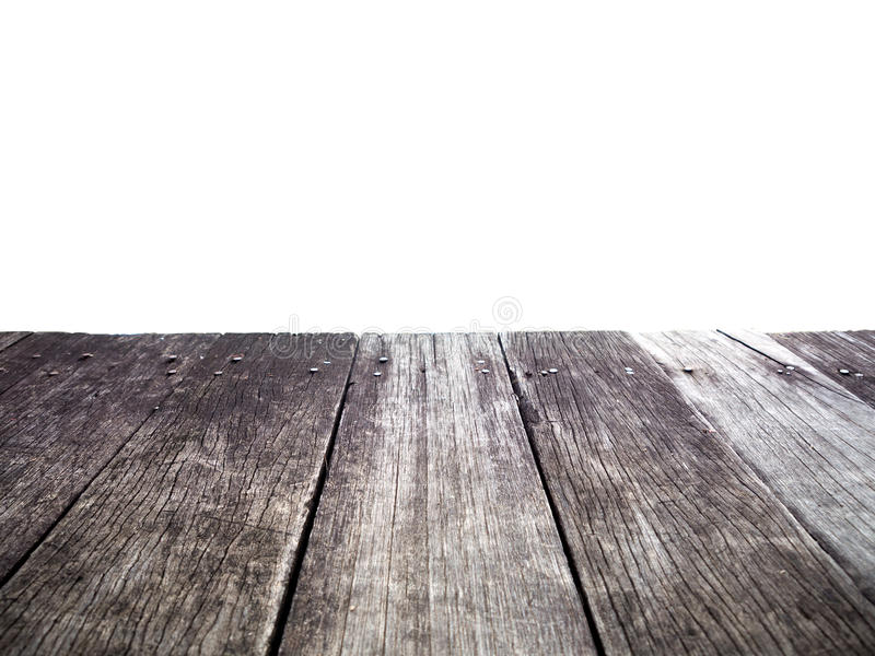 Old wood dock isolated royalty free stock images