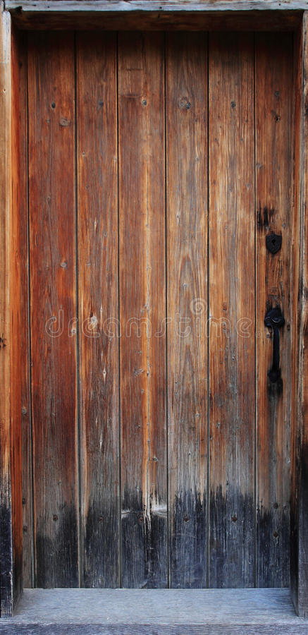 Download Old wood door stock photo. Image of weathered, wood, handle - 10703586