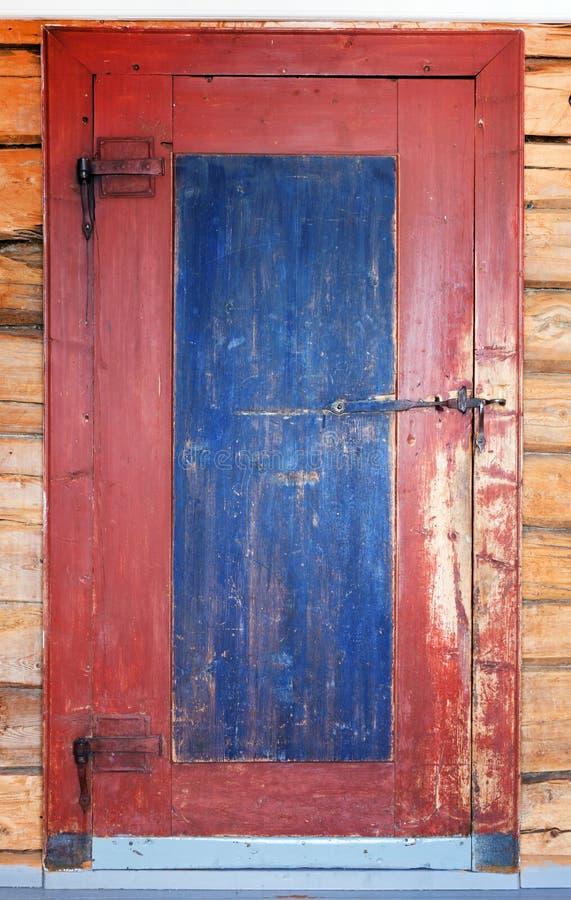 Download Old wood door stock photo. Image of blue, doorway, grain - 19048014