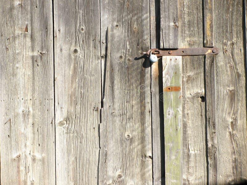 Old wood door. The photo of old wood door with lock royalty free stock photo