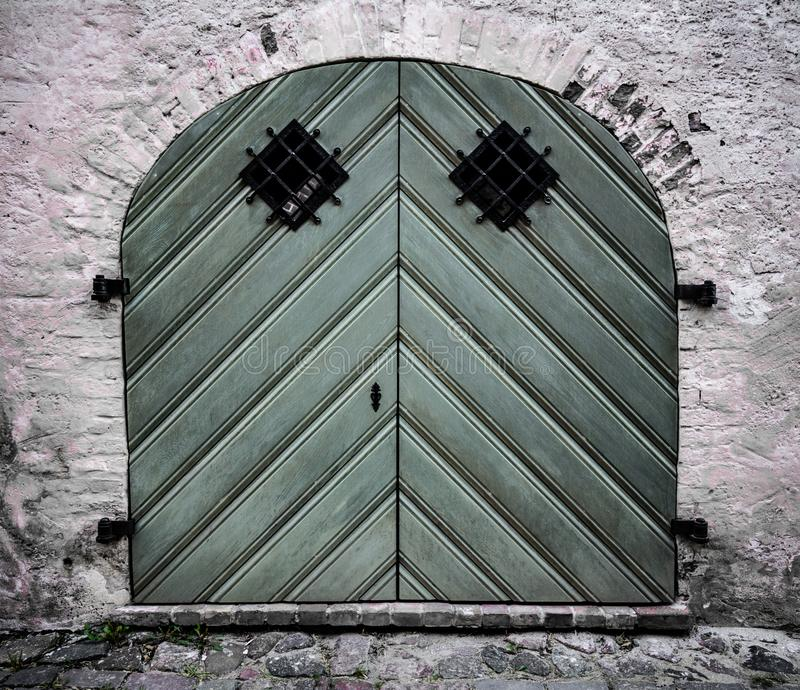 Old wood door, Riga, Latvia old town. Old door, Riga Latvia old town stock images