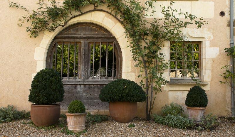 Old wood door Saint Jean de Cole royalty free stock images
