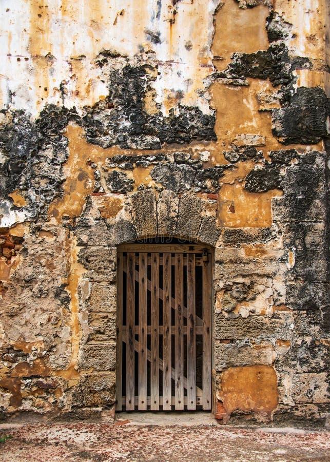 Old wood door royalty free stock image