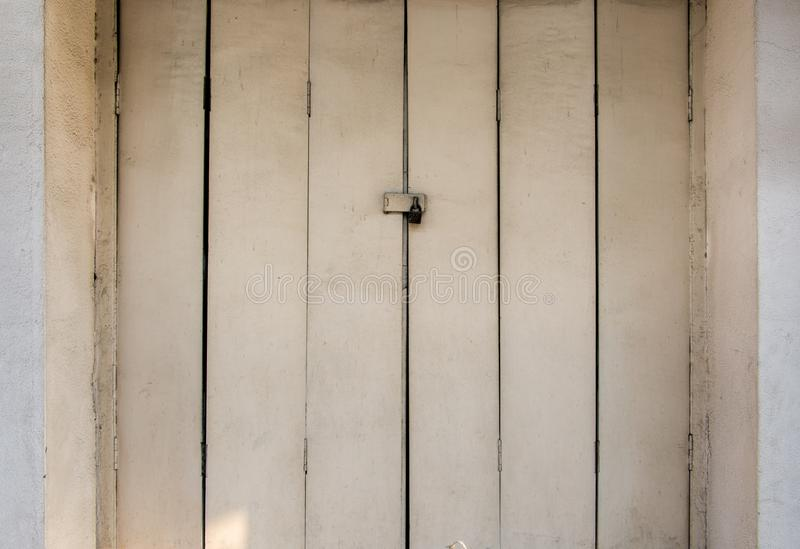 Old Wood Doors and Key lock photo royalty free stock photography