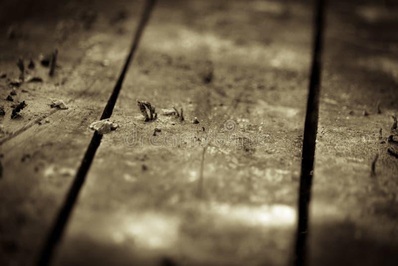 Old wood floor stock photography
