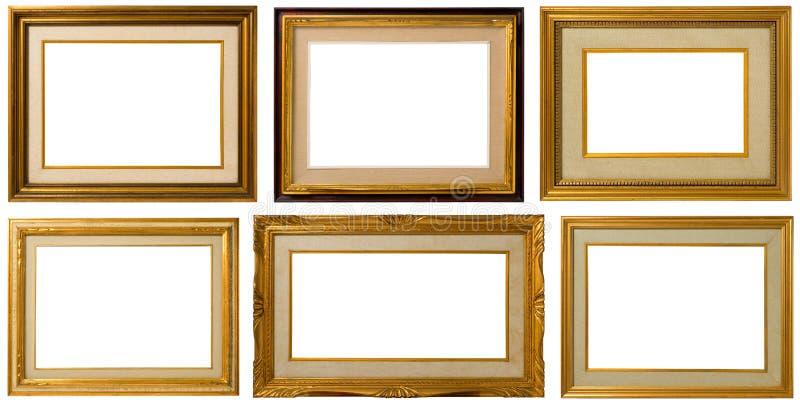Old wood frame. stock image