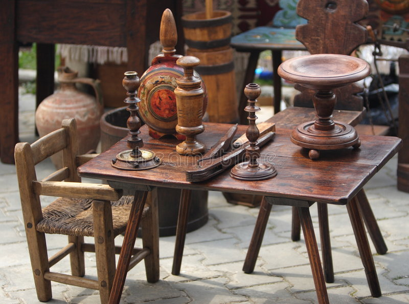 Download Old Wood Furniture Items Stock Photo. Image Of Swap, Furniture    2193272