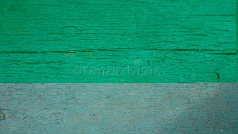 Old wood green texture stock image