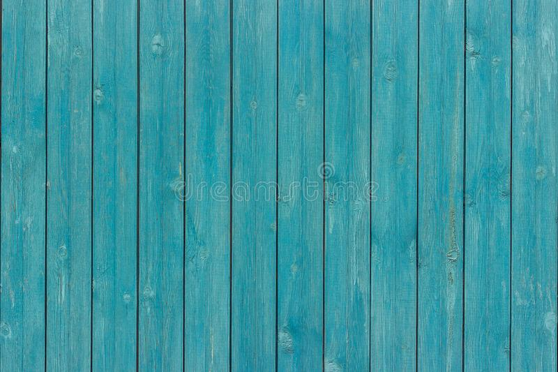 Old wood planks board painted blue color stock image