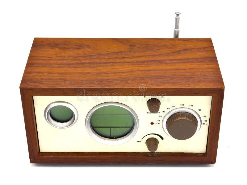 Old wood,retro radio set isolated on background.  stock photo