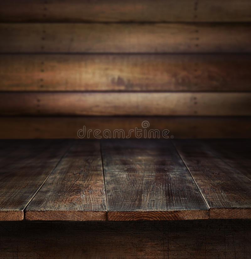 Free Old Wood Table With Wooden Background Royalty Free Stock Photography - 27193587