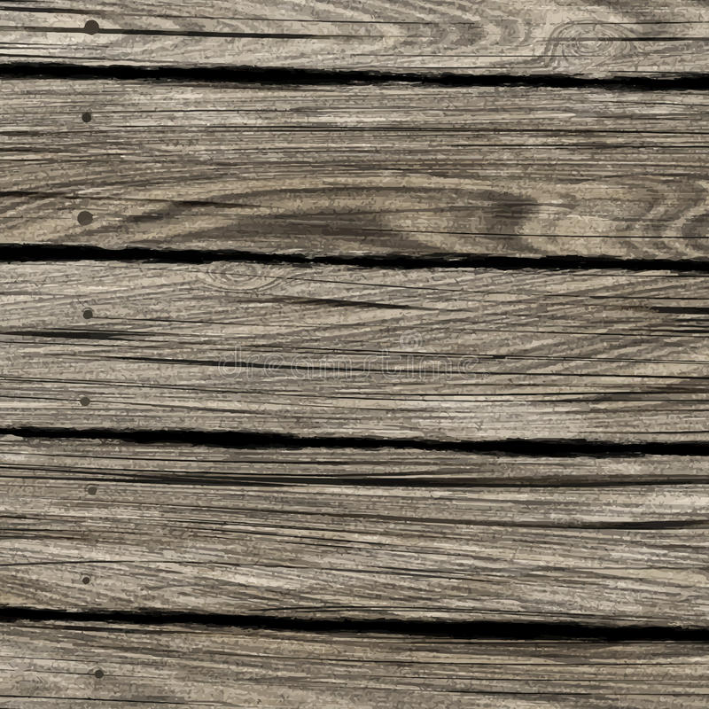 Old wood texture background. Vintage background with old wooden texture vector illustration