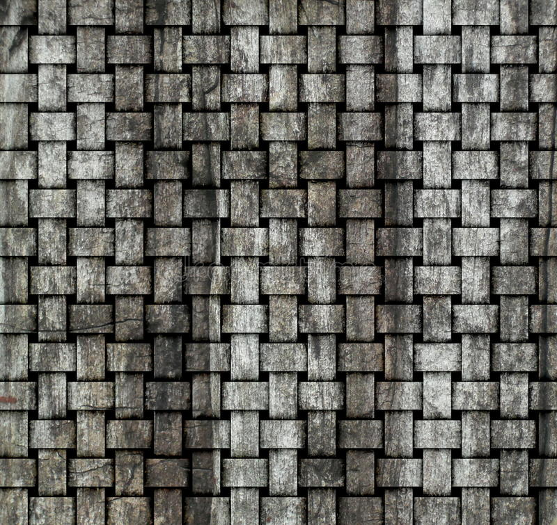 Old Wood Weave Wall Royalty Free Stock Photo