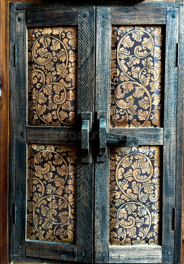Antiques wood windows, Asia wood craftsmanship, Wood texture, stock photos