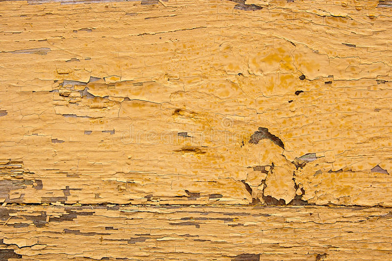 Old Woodan Wall, Shabby Yellow Paint As Background Stock Image ...
