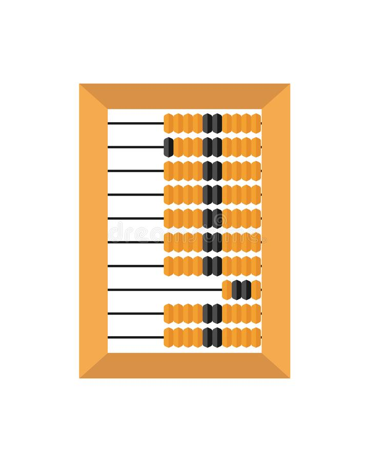 Old wooden abacus isolated on a white backgroun. Vector illustration. Old wooden abacus isolated on a white backgroun. Vector royalty free illustration