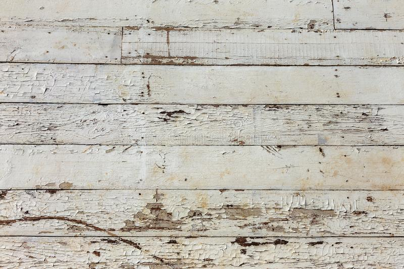 Old wooden background of white shabby painted wooden planks. Background of old painted texture wood as a basis for vintage stock images