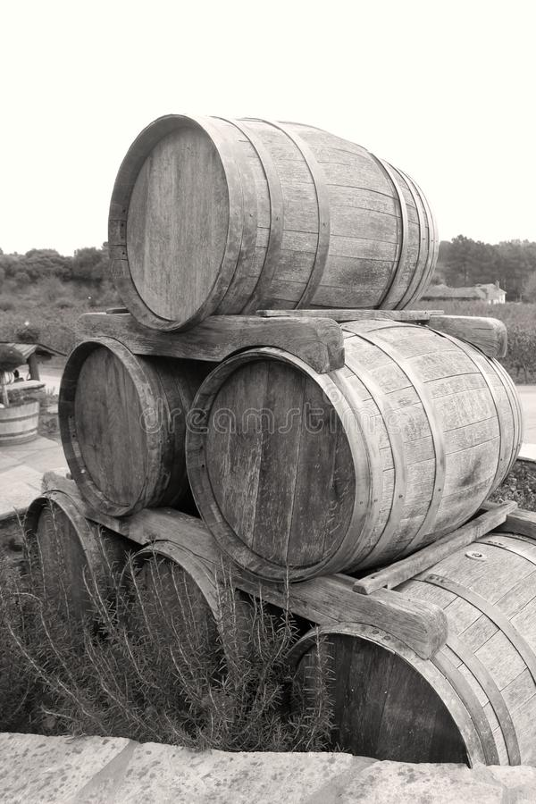 Old wooden barrel. Photo of old wooden barrel royalty free stock photos
