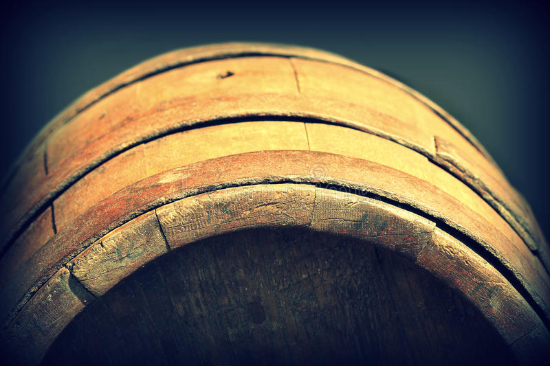 Old wooden barrel royalty free stock images