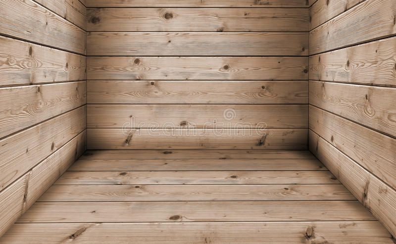 Old wooden base. Background and floor made of wooden planks stock illustration