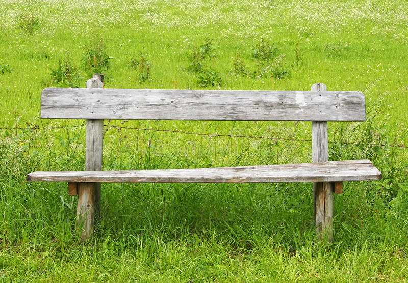 Old Wooden Bench Royalty Free Stock Images
