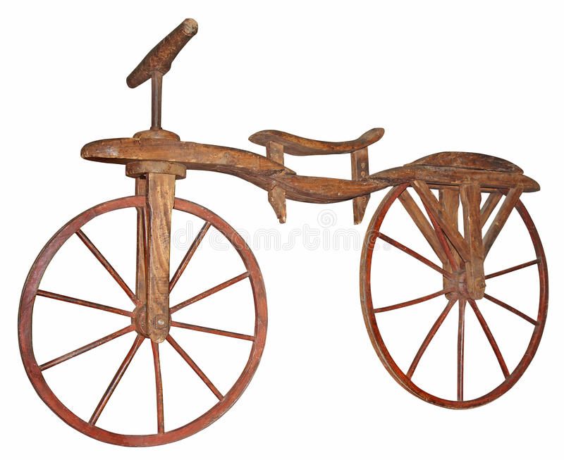 Old wooden bike stock images