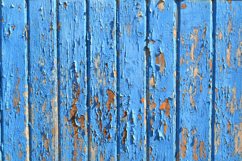 Old wooden blue planks background or organic texture. Vintage backdrop. Grunge wood wall pattern. Oak texture royalty free stock images