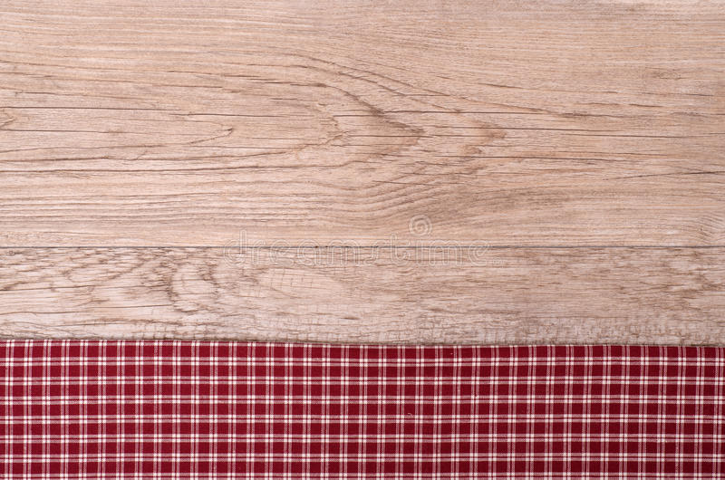 Download Old Wooden Board With Checkered Cloth Stock Photo - Image: 30519368