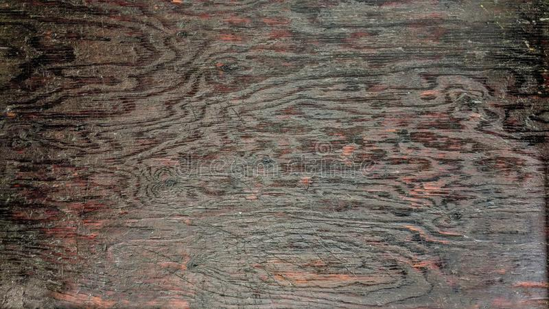 Old wooden board soiled by industrial oil. Beautiful drawing of vein with traces and marks of wear vector illustration