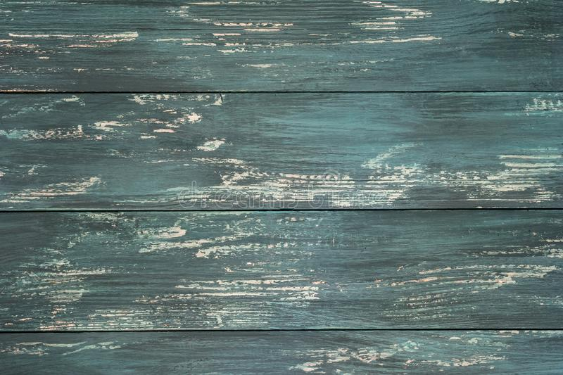 Old wooden  boards with cracked  paint. Textured vintage background with gorizontal lines. Element, for design stock photos