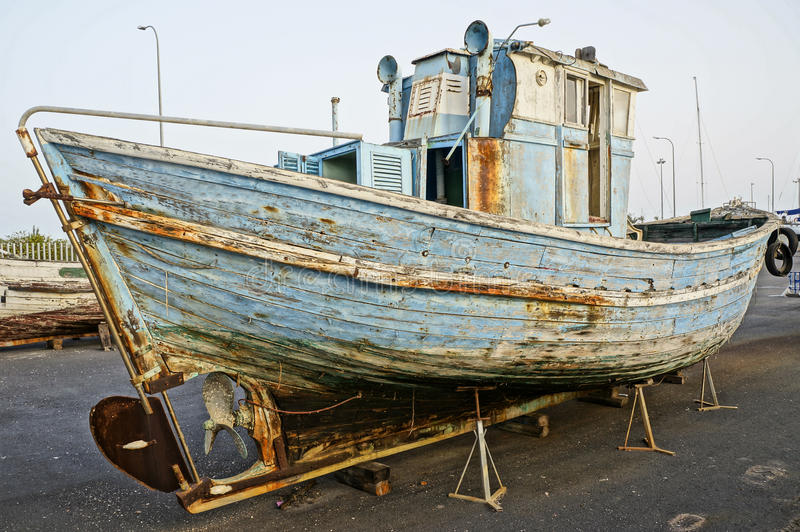 Download Old wooden boat stock photo. Image of coral, disasters - 26090470